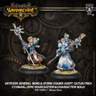 artificer general nemo and storm chaser adept caitlin finch cygnar epic warcaster and character solo
